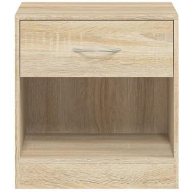 vidaXL Table de chevet 2 pcs avec tiroir Couleur de chêne[7/7]