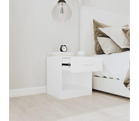 vidaXL Noptieră cu sertar, 2 buc, alb[3/7]
