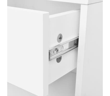 vidaXL Nightstand 2 pcs with Drawer White[6/7]