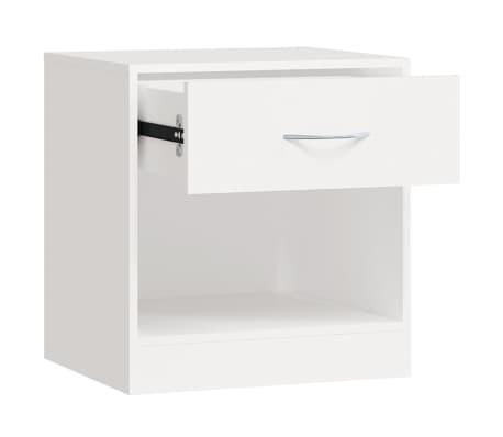 vidaXL Noptieră cu sertar, 2 buc, alb[6/7]