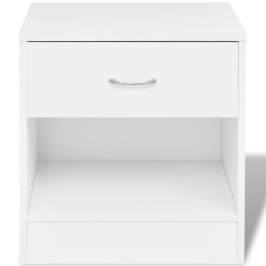vidaXL Nightstand 2 pcs with Drawer White[3/7]