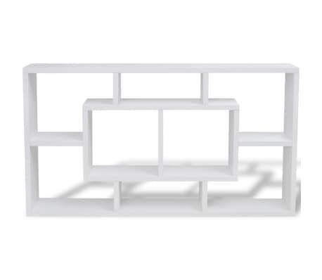 wandregal h ngeregal mit 8 f chern wei im vidaxl trendshop. Black Bedroom Furniture Sets. Home Design Ideas