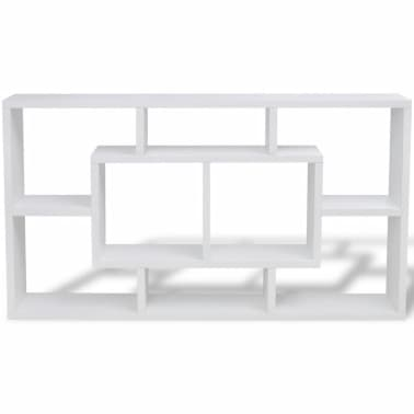 Floating Wall Display Shelf 8 Compartments White[4/6]