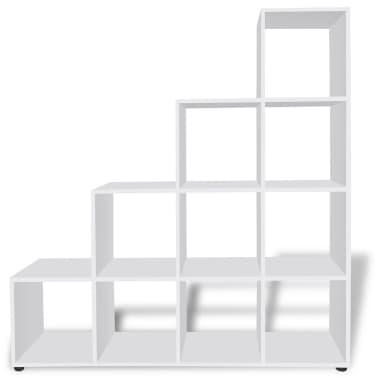 vidaXL Bibliothèque/étagère 142 cm Blanc[3/7]