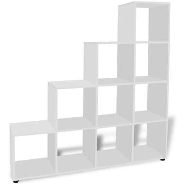 vidaXL Bibliothèque/étagère 142 cm Blanc[4/7]