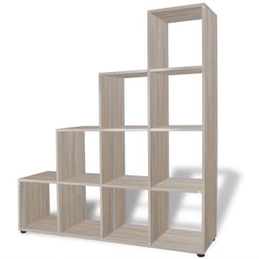 "vidaXL Staircase Bookcase/Display Shelf 55.9"" Oak[2/7]"