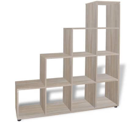 "vidaXL Staircase Bookcase/Display Shelf 55.9"" Oak[4/7]"