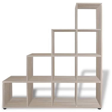 "vidaXL Staircase Bookcase/Display Shelf 55.9"" Oak[3/7]"