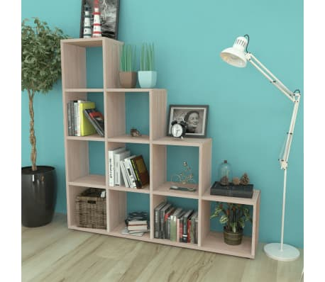 "vidaXL Staircase Bookcase/Display Shelf 55.9"" Oak[1/7]"