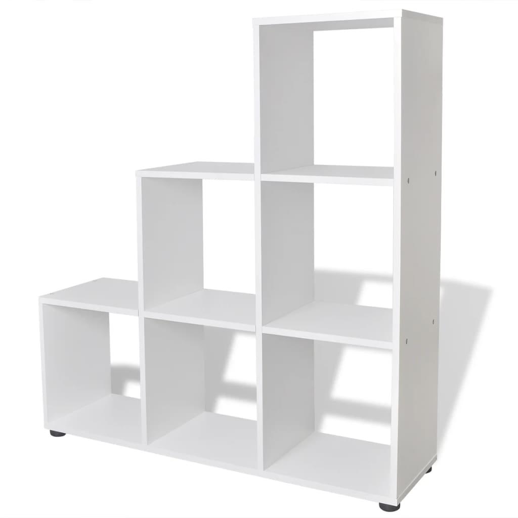 999242552 Treppenregal Bücherregal 107 cm Weiß