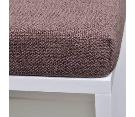 Shoe Storage Bench 10 Compartments White[4/5]