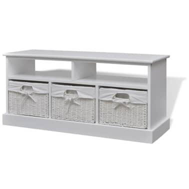 vidaXL Storage Bench Aarau White[1/6]