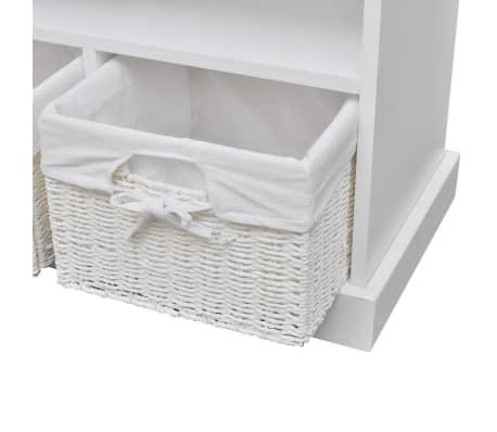 vidaXL Storage Bench Aarau White[4/6]