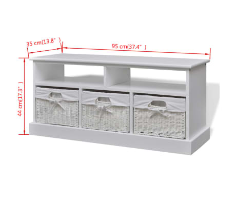 vidaXL Storage Bench Aarau White[6/6]
