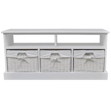 vidaXL Storage Bench Aarau White[2/6]