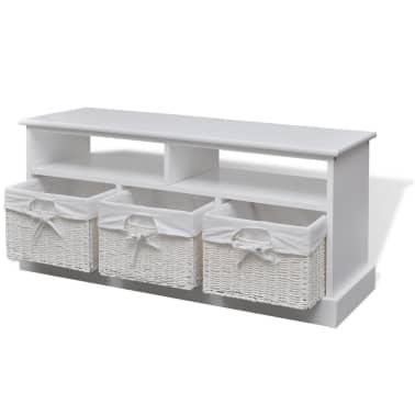 vidaXL Storage Bench Aarau White[3/6]
