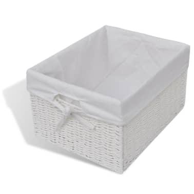 vidaXL Storage Bench Aarau White[5/6]