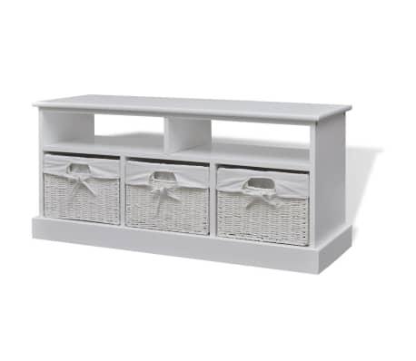 acheter vidaxl banc de stockage aarau blanc pas cher. Black Bedroom Furniture Sets. Home Design Ideas