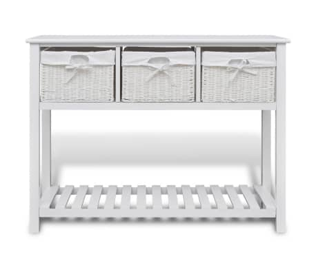 vidaXL Storage Sideboard White[2/7]