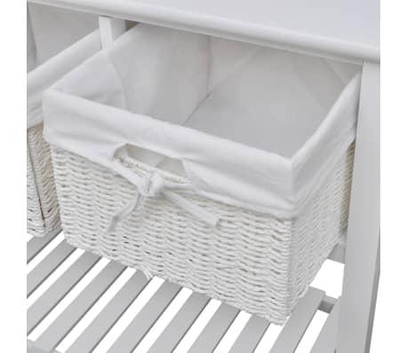 vidaXL Storage Sideboard White[5/7]