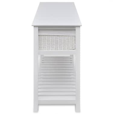 vidaXL Storage Sideboard White[3/7]