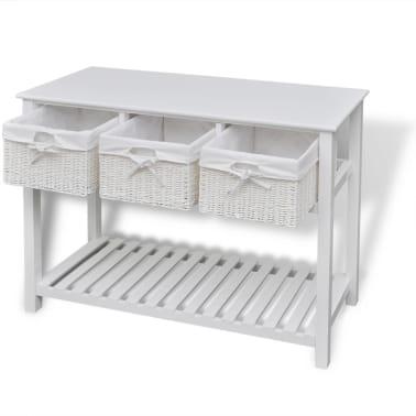 vidaXL Storage Sideboard White[4/7]