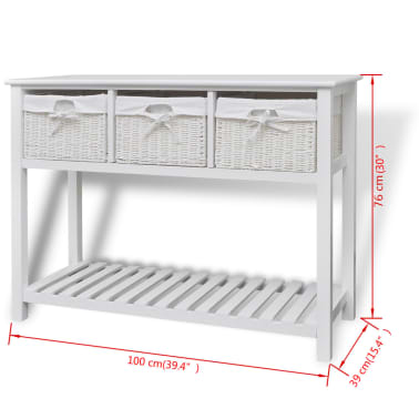 vidaXL Storage Sideboard White[7/7]
