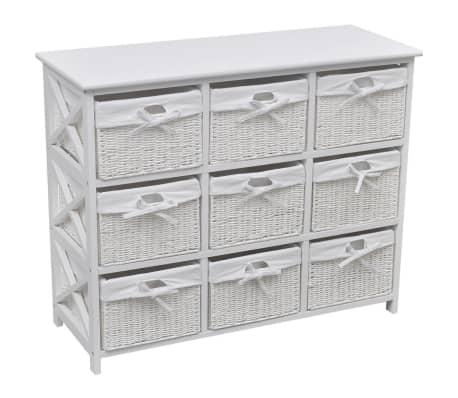 vidaXL Storage Cabinet Akron White-picture