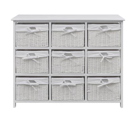 vidaXL Armoire de rangement Blanc[2/7]