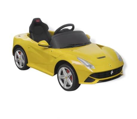 vidaXL Ride-on Car Ferrari F12 Yellow 6 V with Remote Control[3/9]
