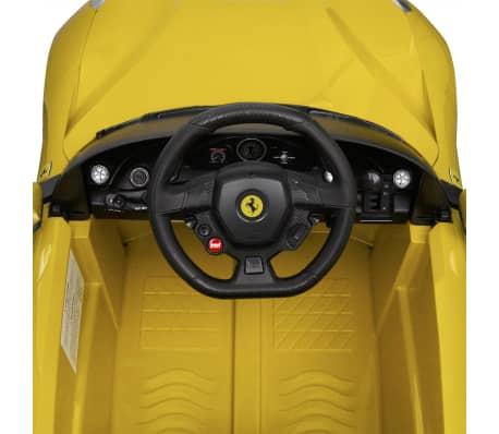 vidaXL Ride-on Car Ferrari F12 Yellow 6 V with Remote Control[6/9]