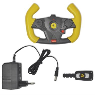 vidaXL Ride-on Car Ferrari F12 Yellow 6 V with Remote Control[8/9]