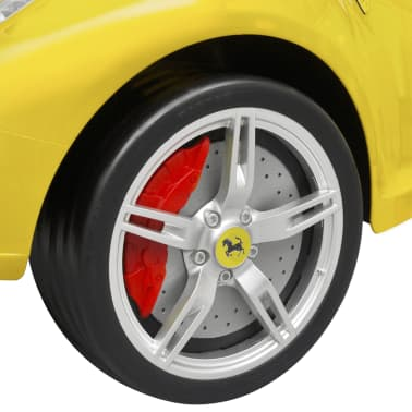 vidaXL coche correpasillos Ferrari 458 amarillo[5/6]