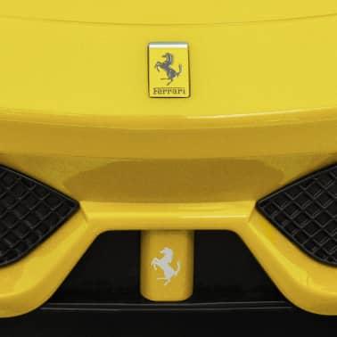 vidaXL coche correpasillos Ferrari 458 amarillo[6/6]