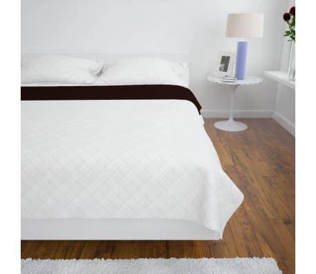 Couvre-lits à double côtés Beige/Marron 220 x 240 cm[3/4]