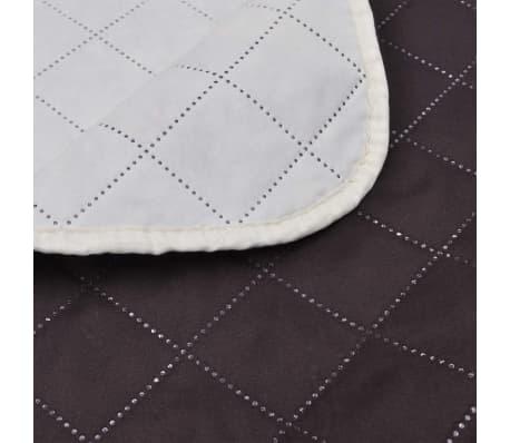 Couvre-lits à double côtés Beige/Marron 220 x 240 cm[4/4]