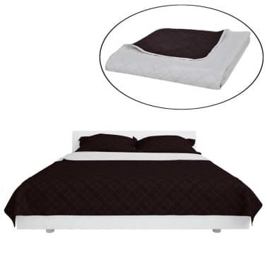Couvre-lits à double côtés Beige/Marron 220 x 240 cm[2/4]