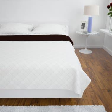 Dwustronna pikowana narzuta na łóżko Beż/Brąz 220 x 240 cm[3/4]