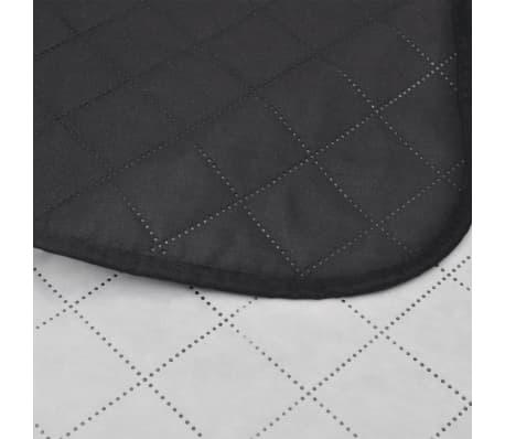Dwustronna pikowana narzuta na łóżko Czarna/Biała 220 x 240 cm[4/4]