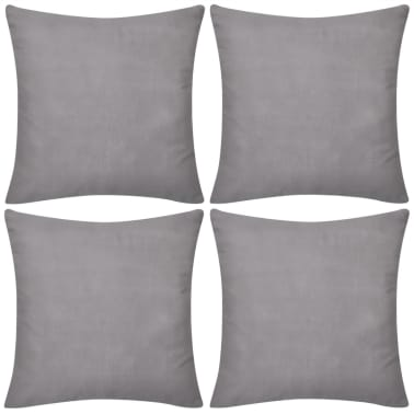 4 Sive Jastučnice Pamuk 80 x 80 cm[1/3]