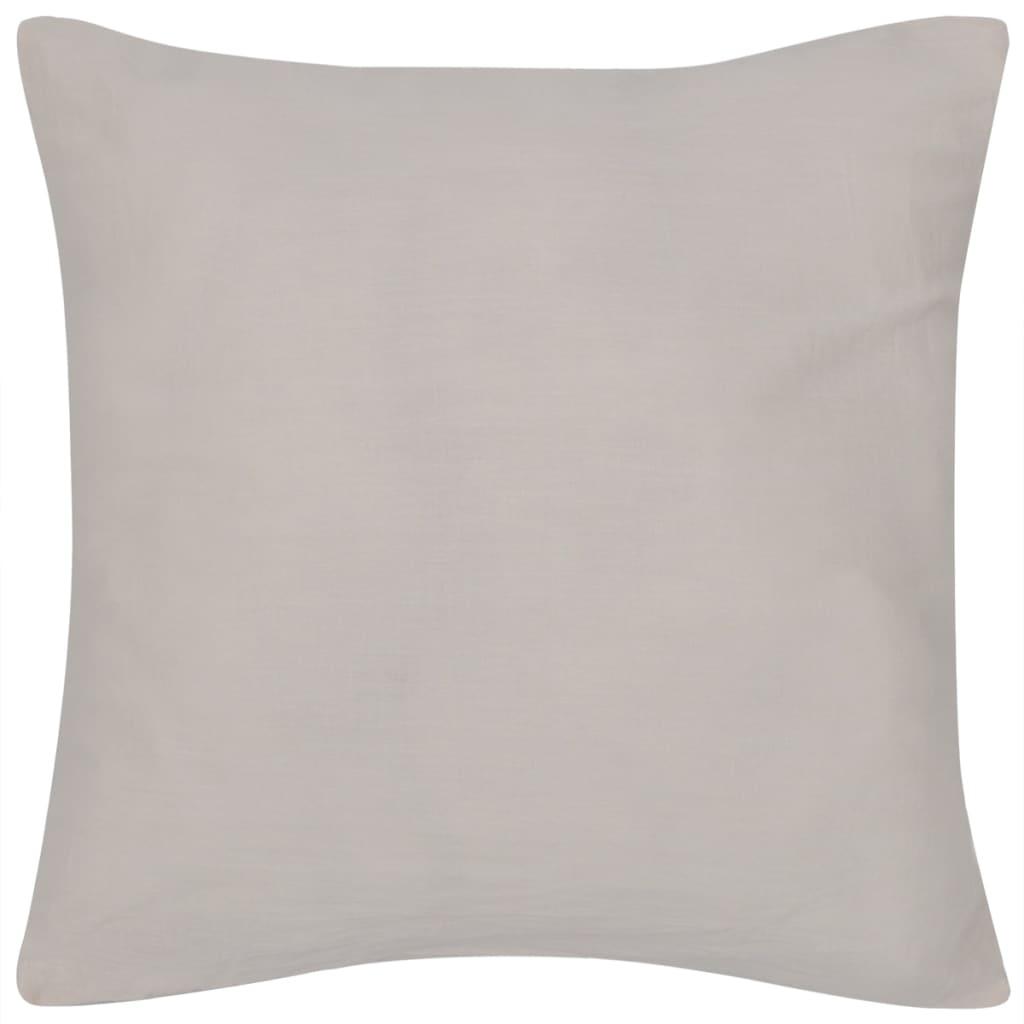 4 béžové potahy na polštářky bavlna 40 x 40 cm