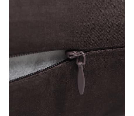 4 braune kissenbez ge baumwolle 50 x 50 cm g nstig kaufen. Black Bedroom Furniture Sets. Home Design Ideas