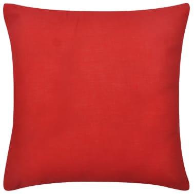 4 rote kissenbez ge baumwolle 40 x 40 cm zum schn ppchenpreis. Black Bedroom Furniture Sets. Home Design Ideas