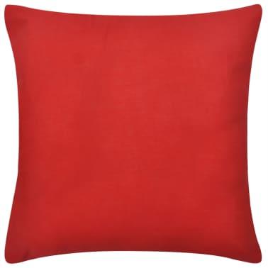 4 rote kissenbez ge baumwolle 50 x 50 cm g nstig kaufen. Black Bedroom Furniture Sets. Home Design Ideas