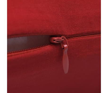 4 Crvene Jastučnice Pamuk 80 x 80 cm[3/3]