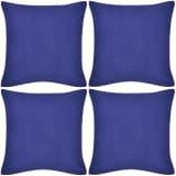 Sininen tyynynpäällinen 4 kpl Puuvilla 50 x 50 cm