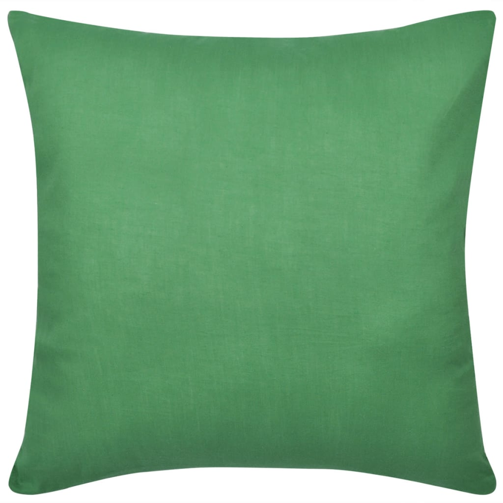 vidaXL Kussenhoezen katoen 50 x 50 cm groen 4 stuks
