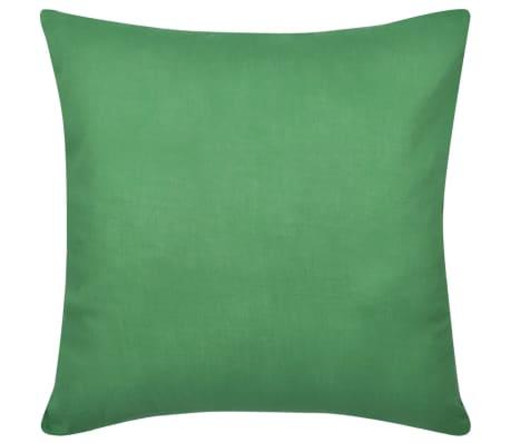 4 Zelene Jastučnice Pamuk 80 x 80 cm[2/3]