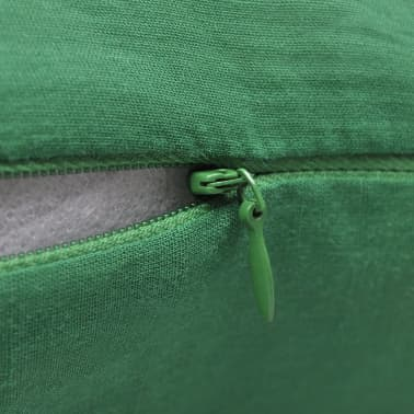 4 Zelene Jastučnice Pamuk 80 x 80 cm[3/3]