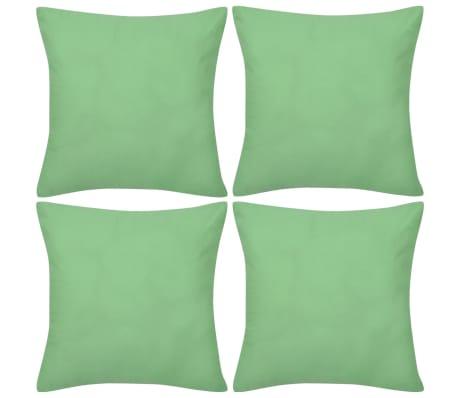 Huse de pernă din bumbac, 80 x 80 cm, verde măr, 4 buc.[1/3]